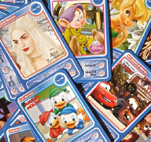 collection et échange de cartes Disney Auchan