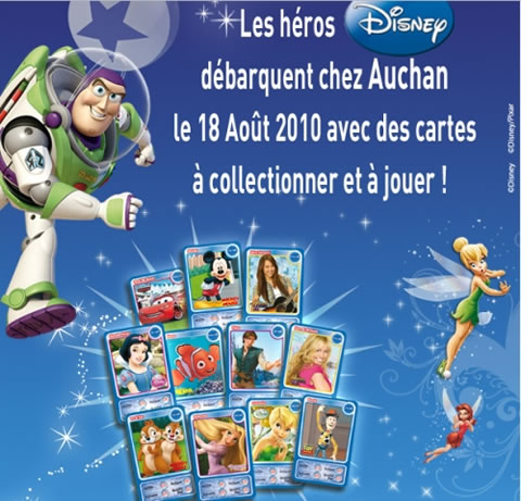 carte à collectionner Auchan disney