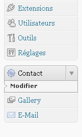 plugin contact menu admin wordpress