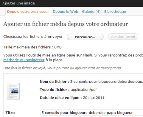 gestion d'insertion pdf wp - WordPress : comment gérer les pdf