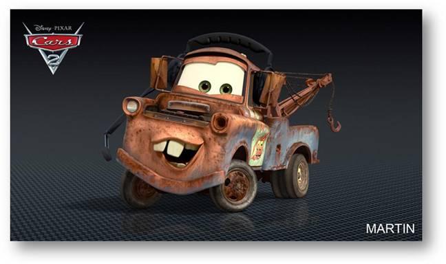 pixar CARS 2 martin