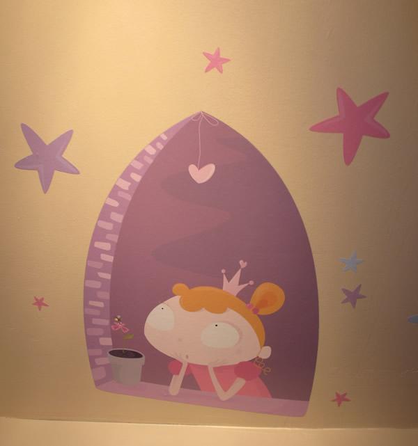 sticker princesse etoile rose chambre fille