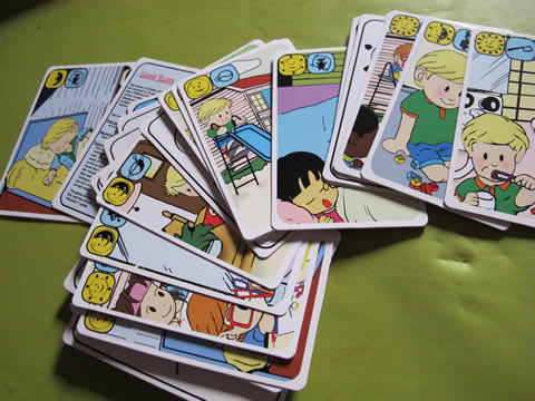 jeu de carte apprendre l'heure