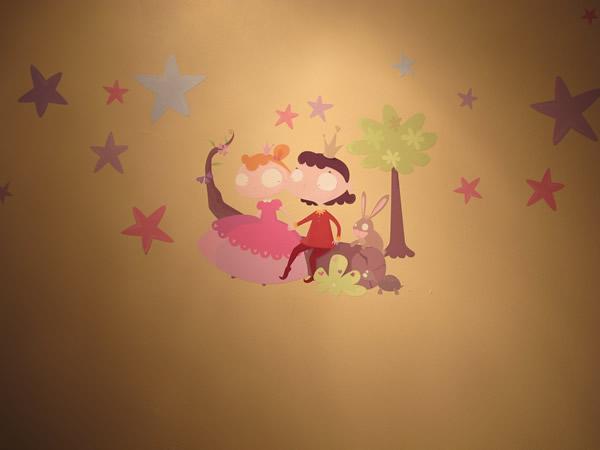 deco chambre fille princesse prince rose