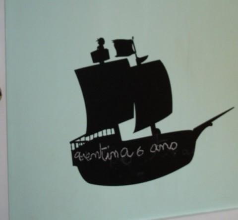 sticker ardoise craie bateau pirate