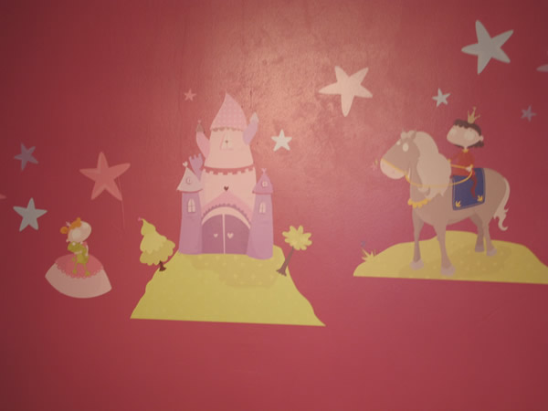 sticker repositionnable princesse chambre fille