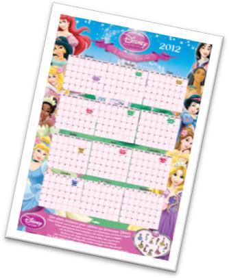calendrier disney princess