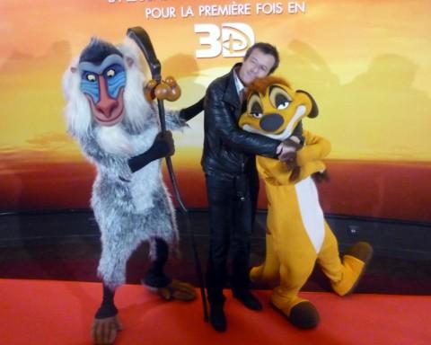 Avant première du Roi Lion en Disney Digital 3D aux Champs Elysés Paris