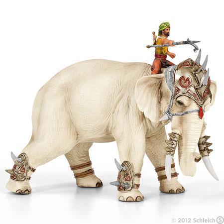 éléphant de combat schleich