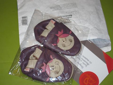 chaussons en cuir pour enfants tichoups
