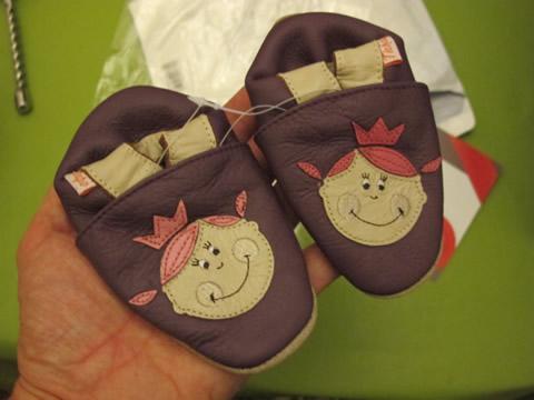 chaussons en cuir souple tichoups 0-6 ans