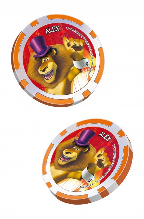 collection jeton madagascar 3, lion alex, cora