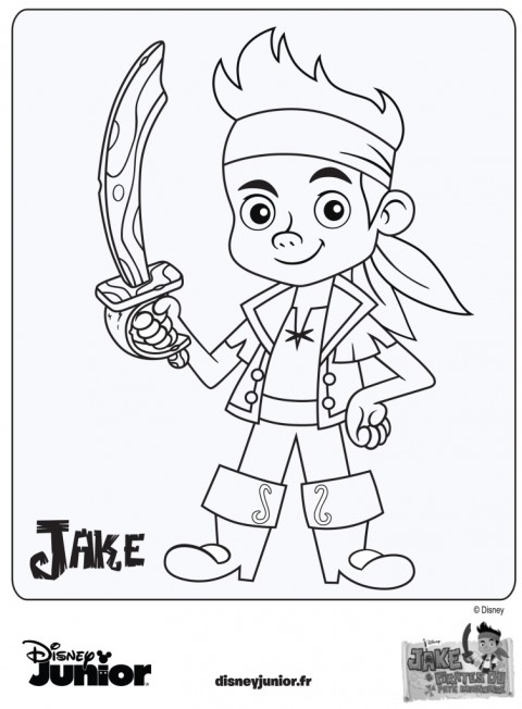 coloriage Jake