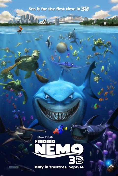 affiche le Monde de Nemo en 3D