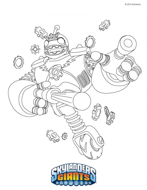 coloriage gskylanders giants