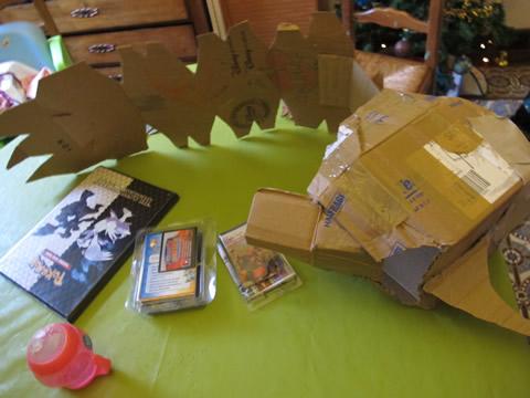 costume skylander en carton