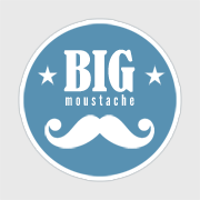 logo big moustache