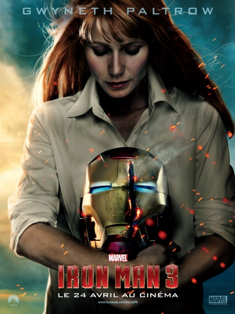 pepper potts iron man 3 affiche