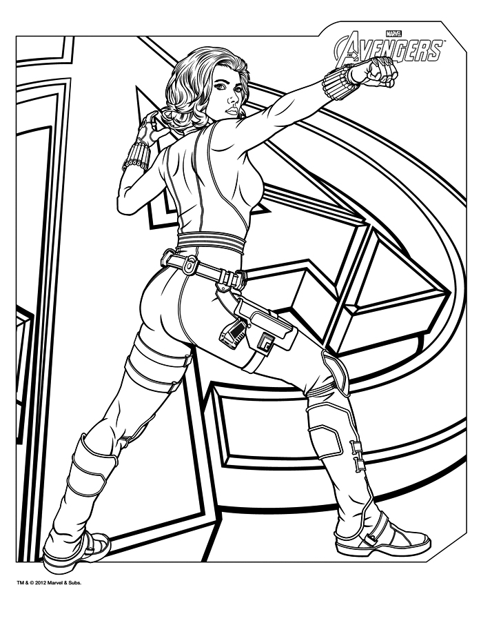Coloriage avengers imprimer gratuitement for Marvel hawkeye coloring pages