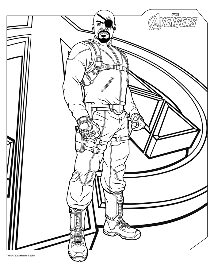 avengers coloring pages a4 - photo#11