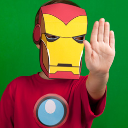marvel avengers iron man mask printables photo 260x260 fs 00031 A vos crayons : du coloriage AVENGERS et autres héros de Marvel