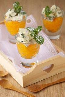 Granité de fruits d'été au Roquefort[2]