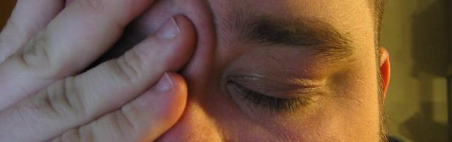Yeux irrités, sécheresse des yeux, test de Schirmer