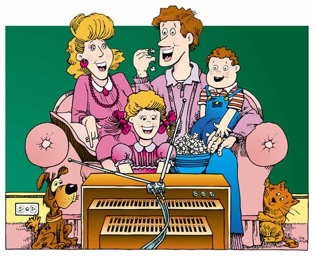 les enfants et le télévision