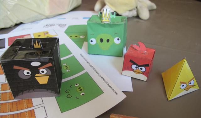 angry bird papertoys