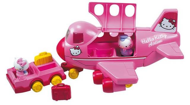 Hello kitty jumbo jet avion lansay