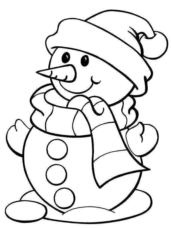 coloriage-bonhomme-de-neige