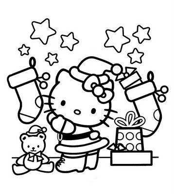 coloriage-kitty-noel