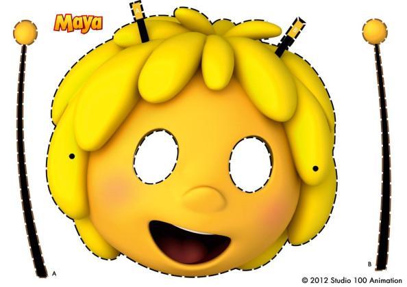 masque à découper maya l'abeille