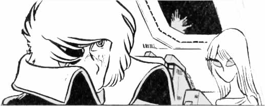 coloring page captain harlock