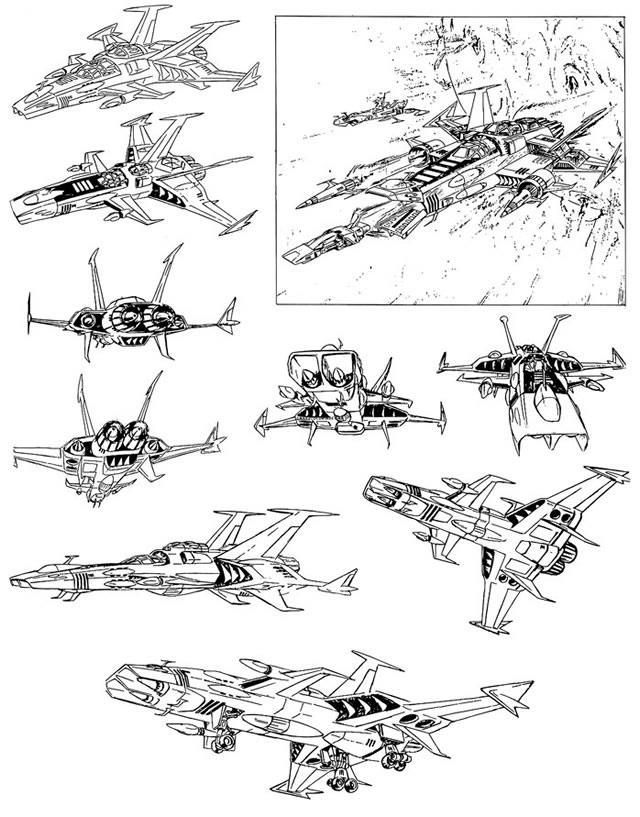 Coloriages imprimer albator le corsaire de l 39 espace - Vaisseau star wars coloriage ...
