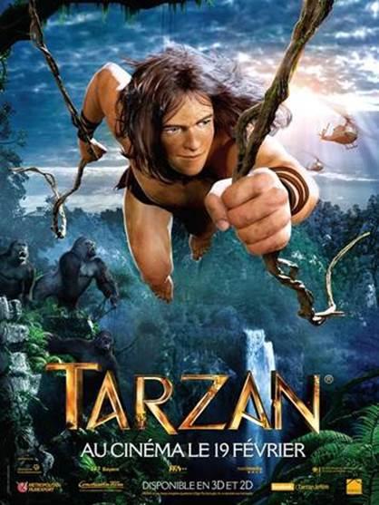 affiche dessin anime TARZAN 2014