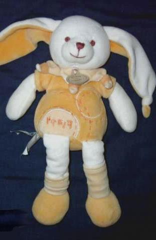 doudou lapin flappy jaune