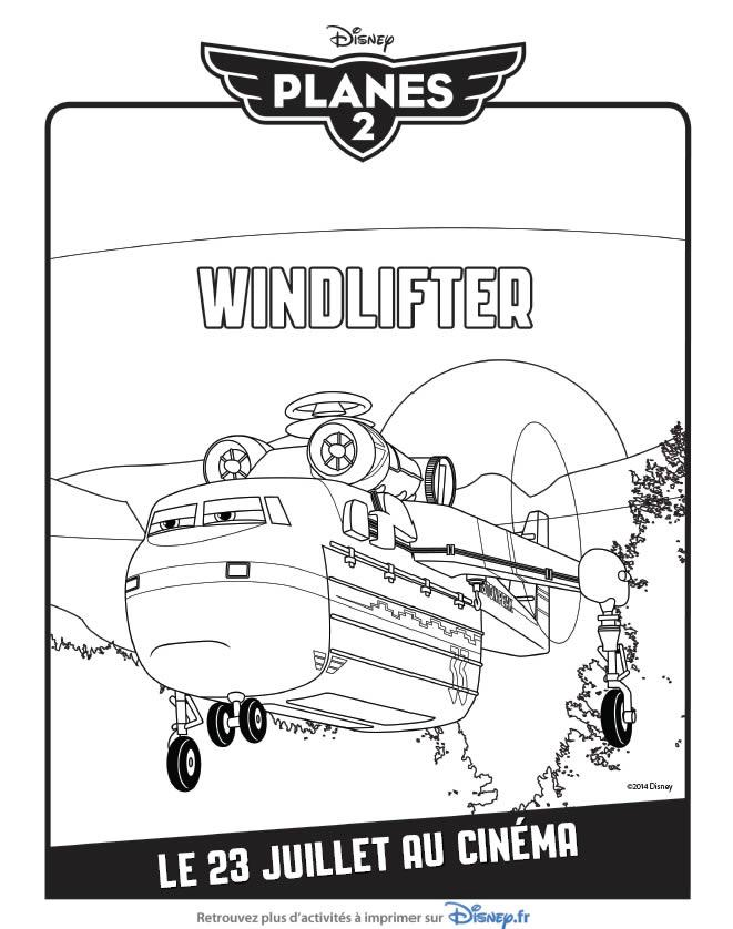 Activité à imprimer et coloriage gratuit Planes 2