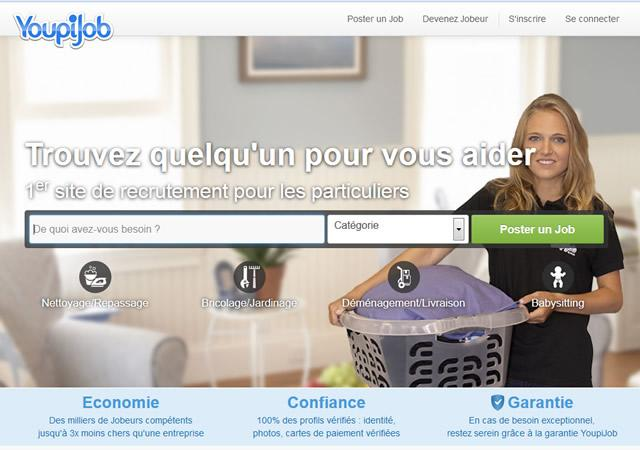 youpijob le r seau des petits boulots en ligne. Black Bedroom Furniture Sets. Home Design Ideas
