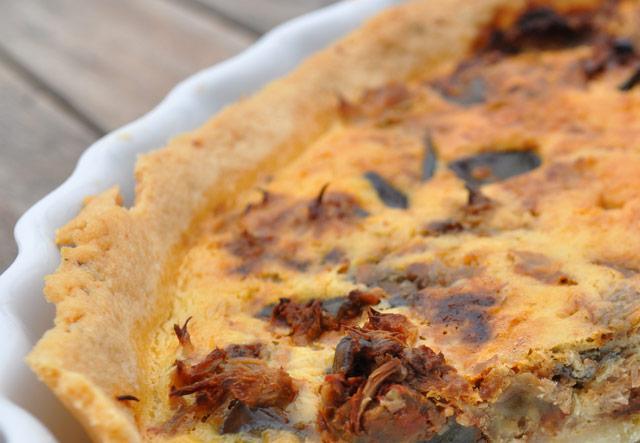 menus : tarte au thon et aubergine