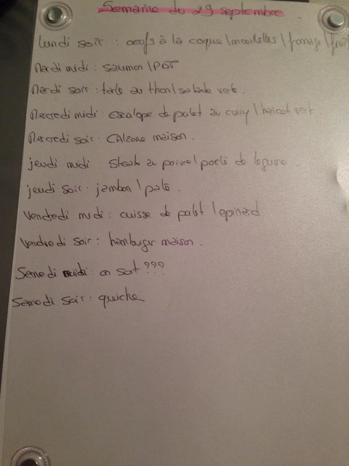 idées repas et recette hebdo