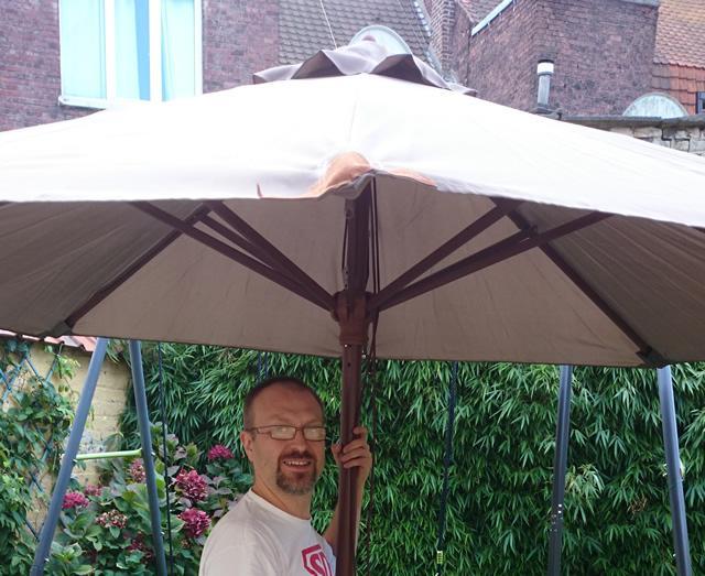 parasol en bois
