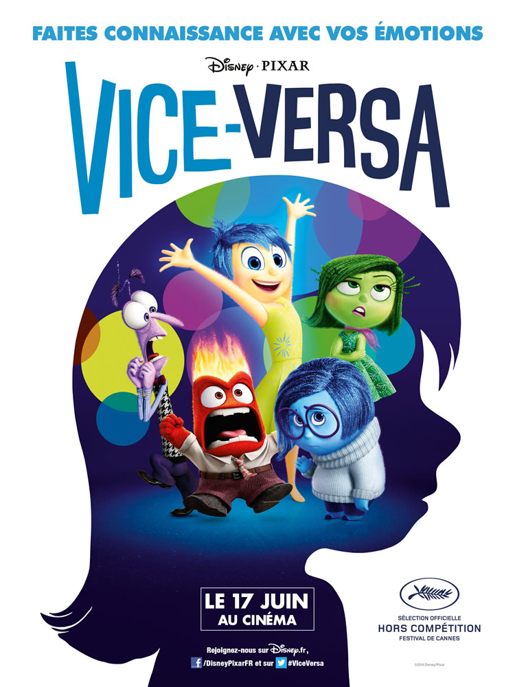film d'animation Vice Versa Disney 17 juin 2015