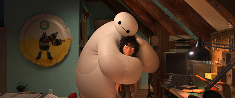 """BIG HERO 6"" — Pictured (L-R): Baymax & Hiro. ©2014 Disney. All Rights Reserved."