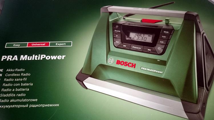 papa teste la radio bosch pra multipower sans fils bluetooh. Black Bedroom Furniture Sets. Home Design Ideas