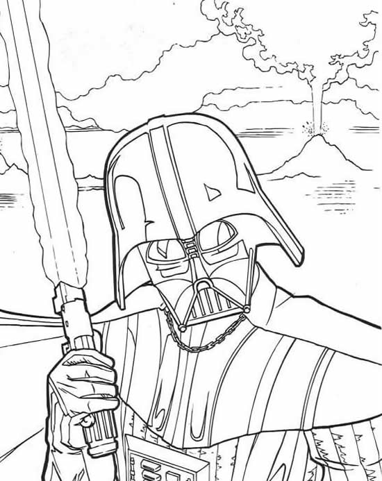 coloriage star wars a imprimer