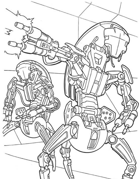 the-robots-shoot-the-gun-2-coloring-page