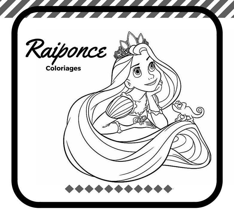 Coloriages De Raiponce A Imprimer