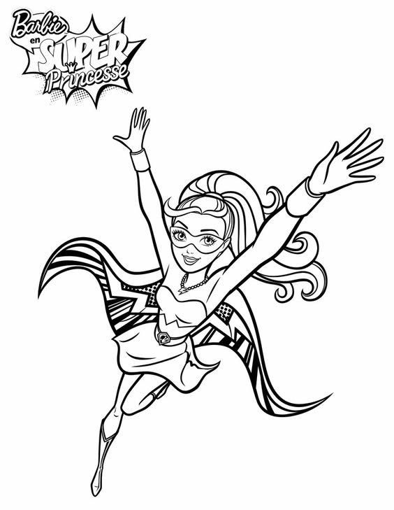 barbie-super-princesse-coloriage
