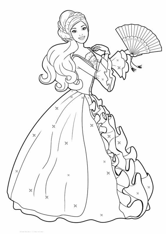 Coloriages gratuits imprimer barbie papa blogueur - Coloriage princesse facile ...